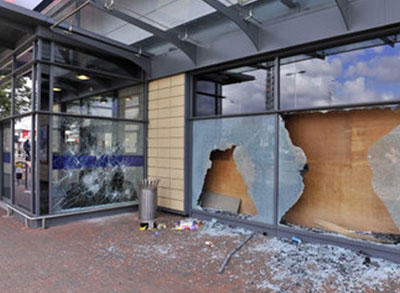 Commercial Storefront Repair by All Service Glass in Portland, OR